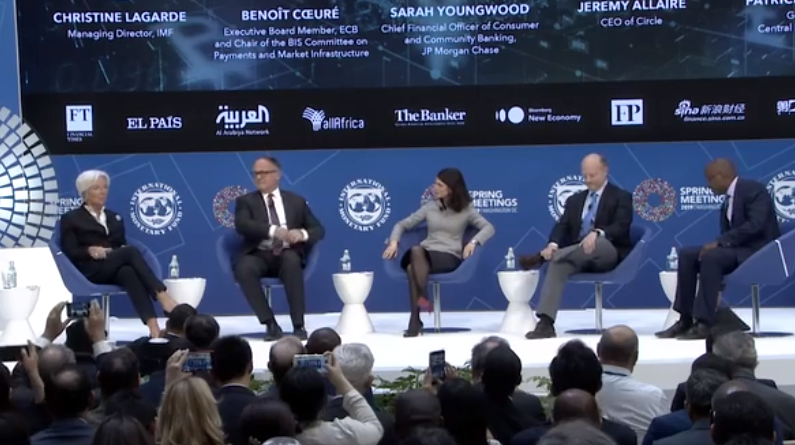 What was said about crypto, blockchain and trust at IMF's spring